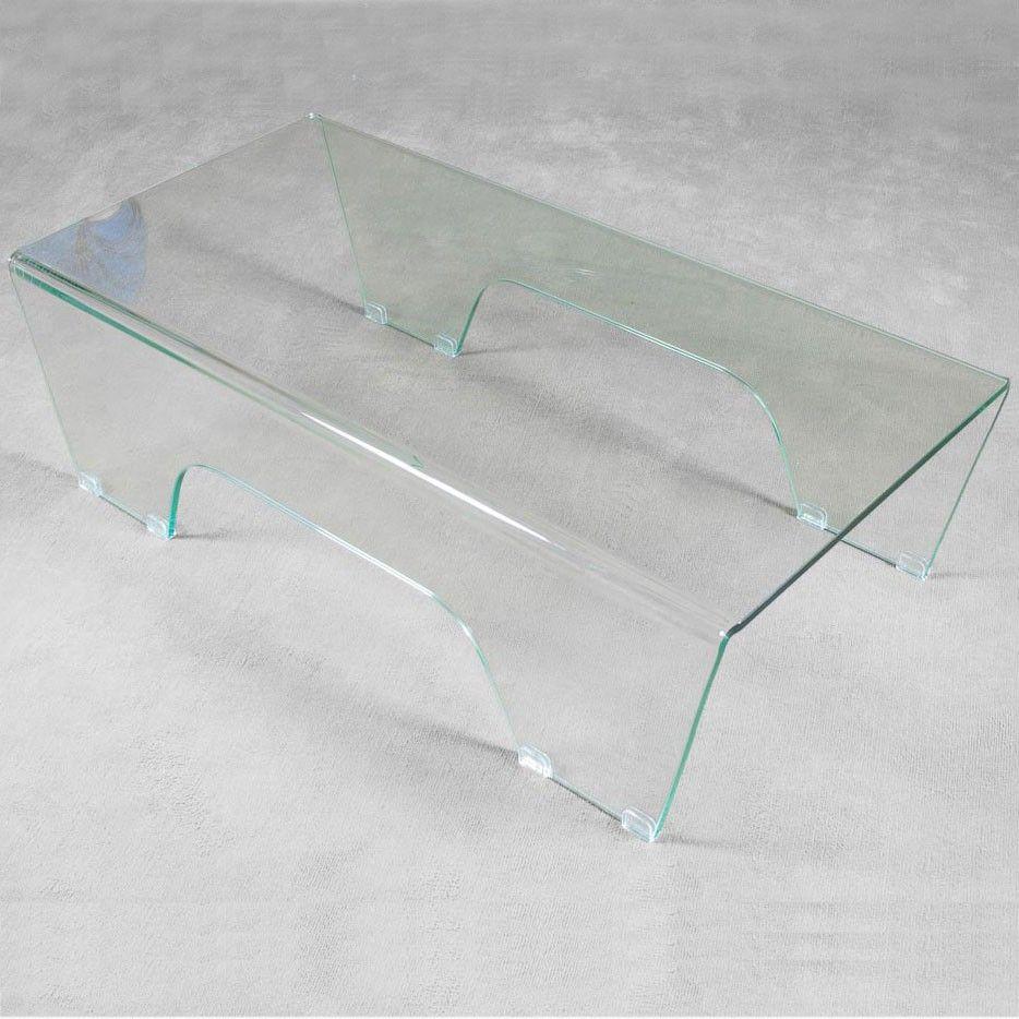 Tavolino basso GHOY in vetro curvato ITAMOBY